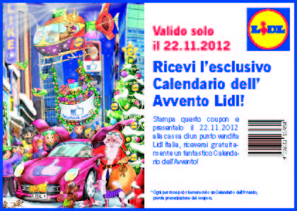 Lidl Calendario Avvento.Lidl It Regalo Per I Fan Facebook 123 000 Gdomarketing