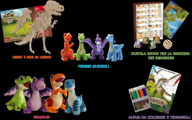 Merchandising il ritorno dei dinosauri.