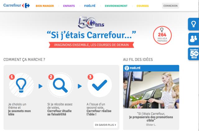 Sito dei 50 anni Carrefour