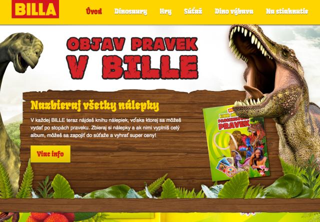 Billa SK home page
