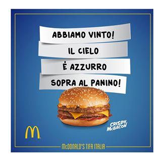 McDonald Italia Inghilterra