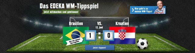 Edeka pronostico Brasil Croazia