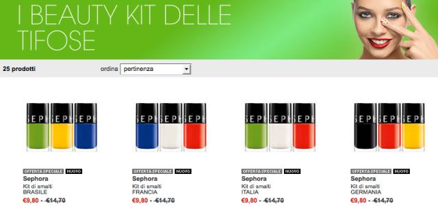 Sephora Kit Tifose Brasil