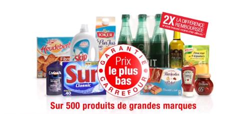 Carrefour le plus bas