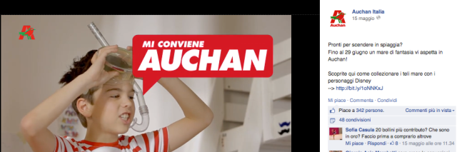Facebook Auchan Disney
