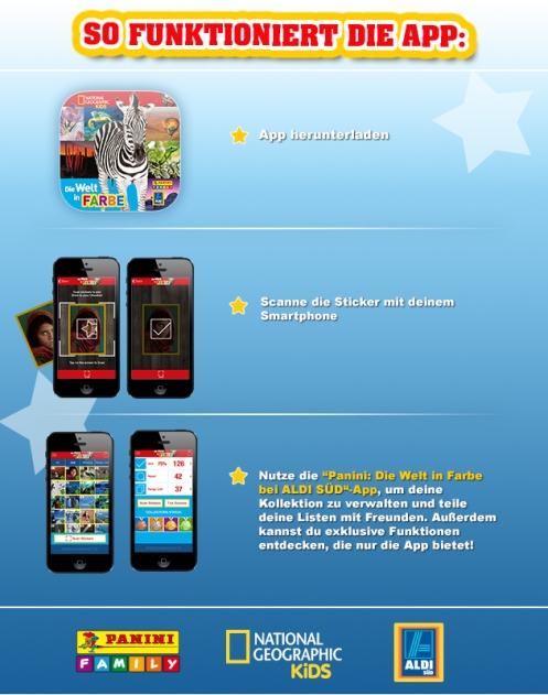 App Aldi Die Welt in Farbe Panini